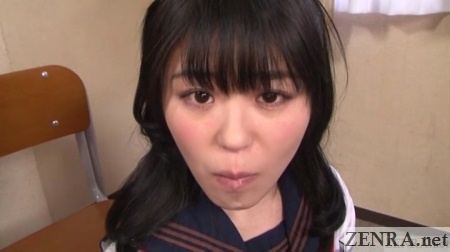 tsugumu mutou mouth full of sour cum