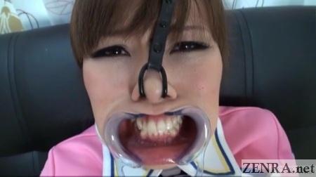 nose hooks cheek expander weird japan