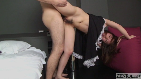 japanese maid uncensored sex standing with leg in air