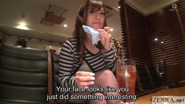 japanese restaurant post fellatio encounter