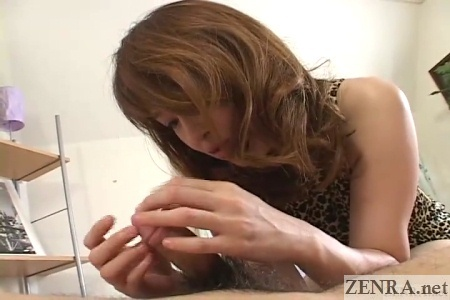 delicate japanese handjob uncensored