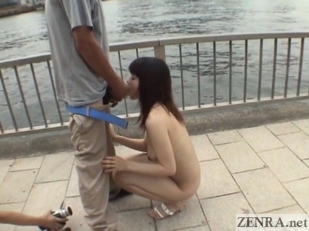 stark naked japanese blowjob in public