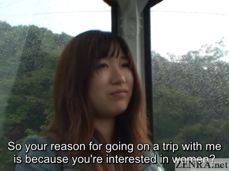 cable car ride with japanese amateur