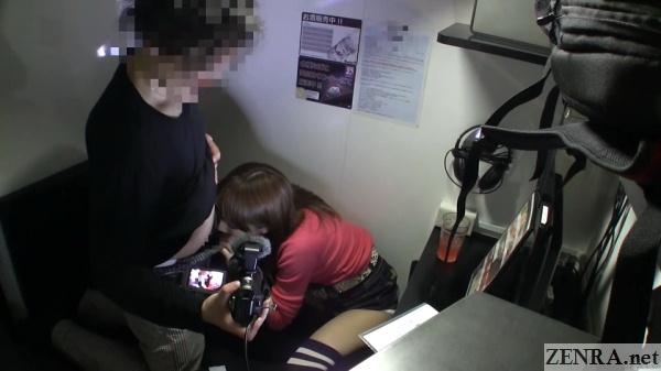 japan internet cafe cfnm penis inspection
