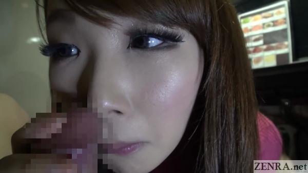 erection rubbing into nostril of ai mizushima