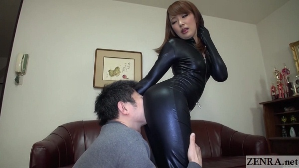 latex body suit butt worship in japan