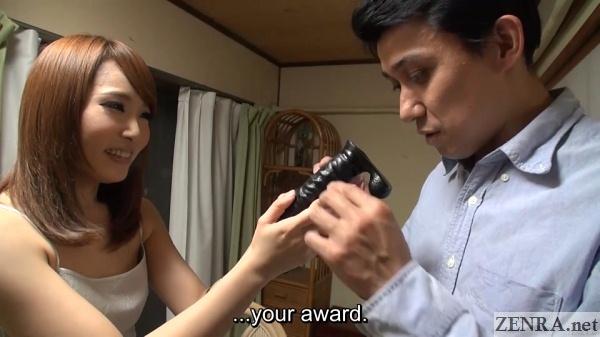 black dildo awarded to hiro san