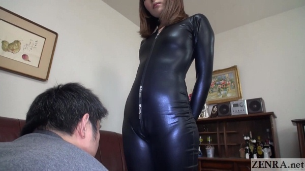 latex body suit mizushima ai with devoted fan