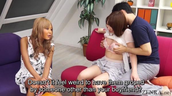 pale amateur slowly stripped while tsubasa miyashita watches