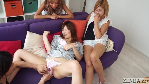 sex toy used on japanese amateur while friends watch