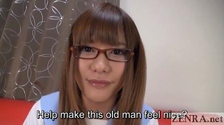 kaoru oshima helps out old man