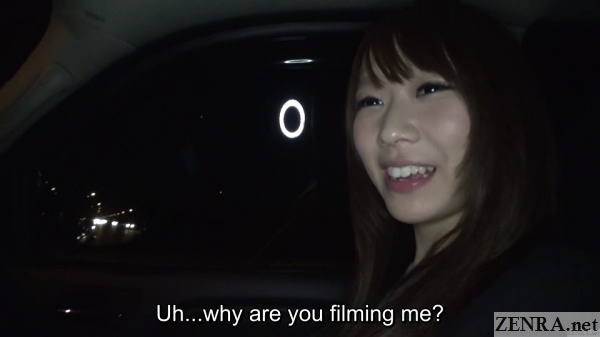 filming in car during japanese nanpa attempt