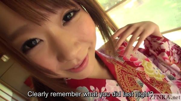 yukata clad hitomi oki asked about last night