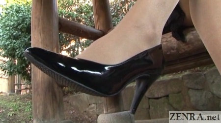 japanese high heels outdoors