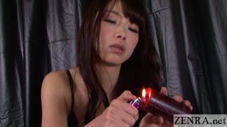 tsubaki katou lights candle