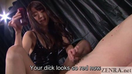 katou tsubaki drips wax on naked slave