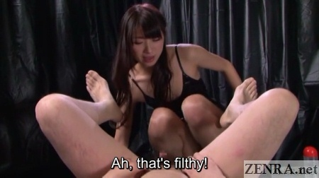 japanese cfnm spread man ready for anus inspection
