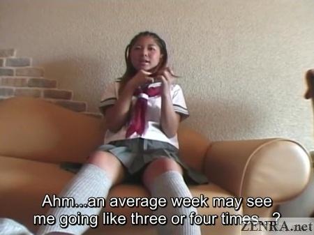 interview with japanese gyaru schoolgirl