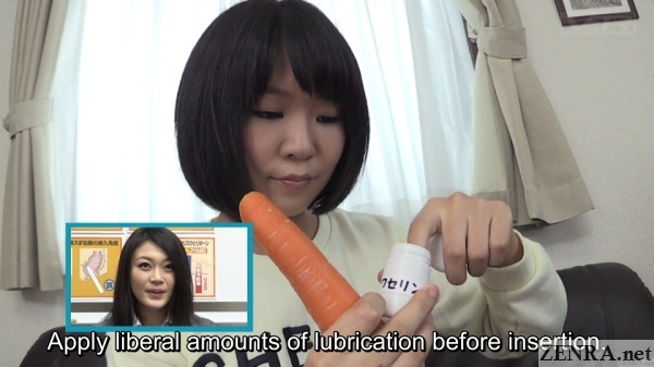 takazawa saya lubes up a carrot