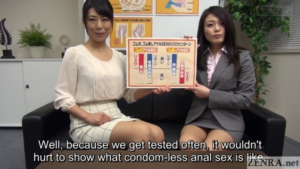 condom free anal sex lecture
