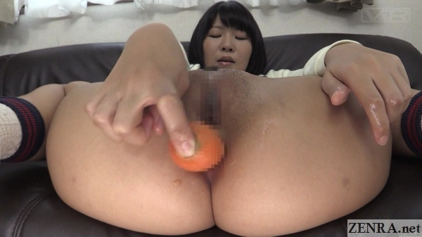 japanese anal carrot insertion with takazawa saya