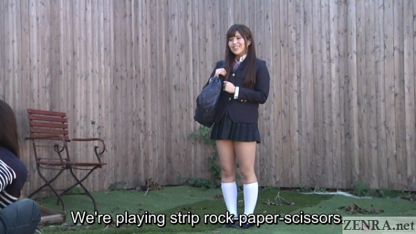 schoolgirl asked to play strip rock paper scissors