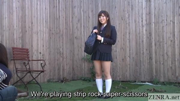 schoolgirl asked to play strip rock paper scissors