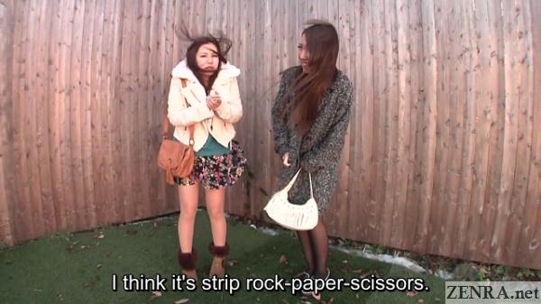 strip rock paper scissors on windy day