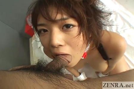 uncensored pov messy blowjob haruna mai