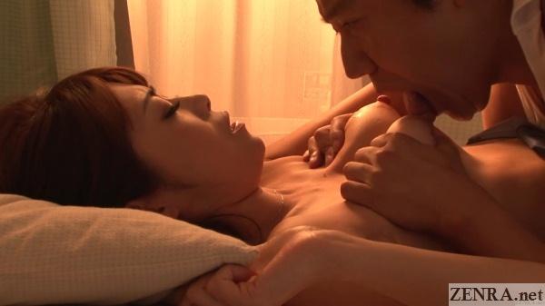 big nipples of maki hojo licked