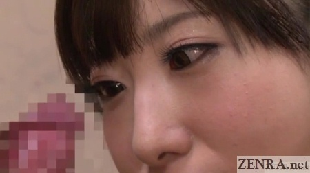 arisa nakano eyes down erection