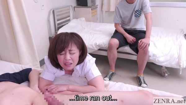japanese nurse fails handjob challenge