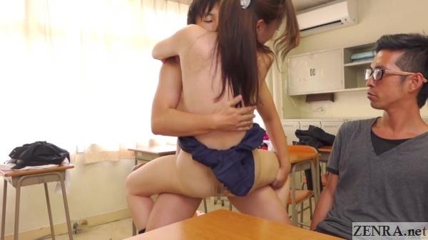 ekiben standing sex in japanese classroom