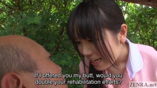 miyazaki yuma offers butt for rehabilitation efforts