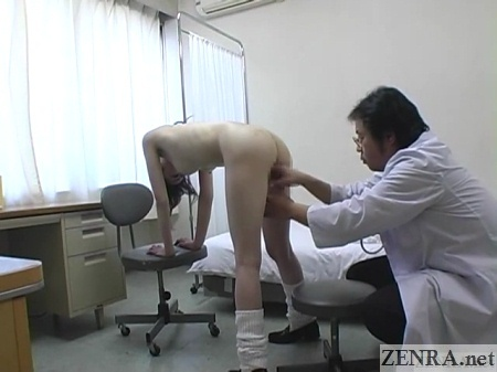 cmnf bent over naked schoolgirl rear end inspection