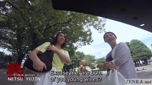 japanese young mothers street pickup