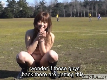 extremely embarrassed japanese nudist
