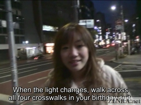 insane japanese public nudity crosswalk challenge