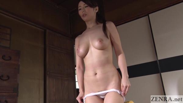 shinoda ayumi strips naked for aroused husband