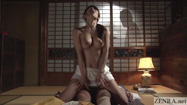 japanese postwar reverse cowgirl sex friend watches through shoji screen