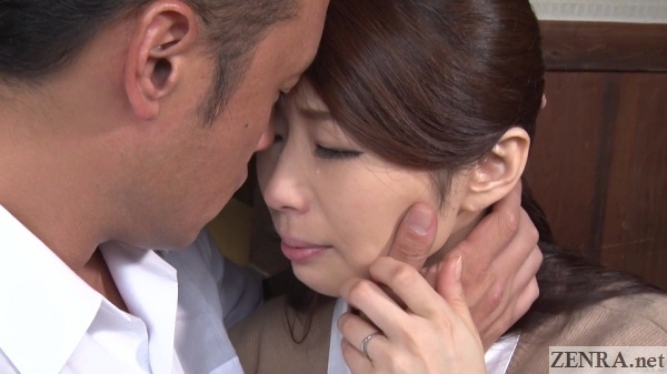 teary eyed ayumi shinoda finds solace with friend of husband