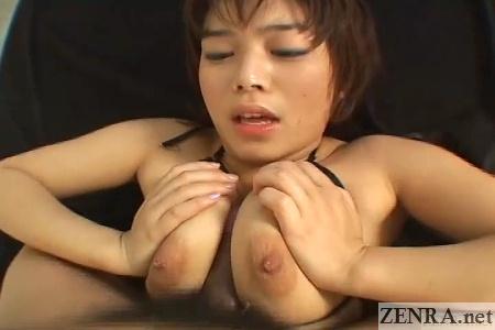 supine titjob by japanese mai haruna