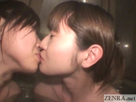 first time kissing for two japanese women