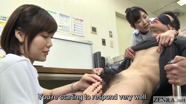 cfnm japanese doctors pleasure blindfolded patient