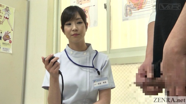 japanese doctor times patients erection