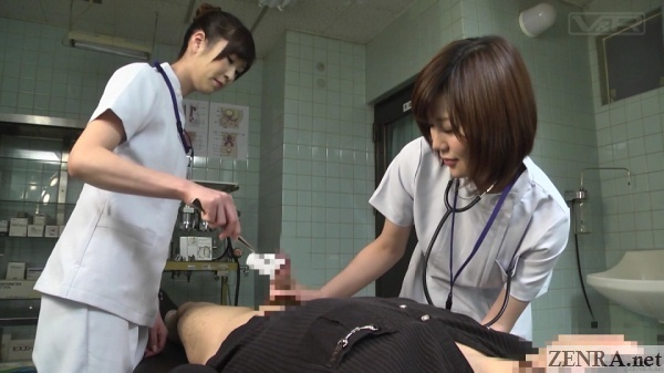 cfnm hand service by japanese doctors
