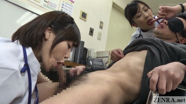 blowjob by clothed japanese doctor