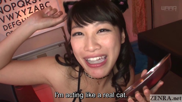 miki sunohara mouth full of cum with cat ears