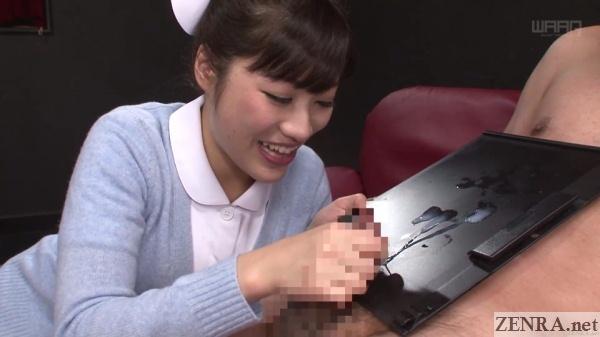 japanese nurse handjob ejaculation cfnm