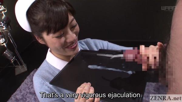 japanese nurse helps patient ejaculate